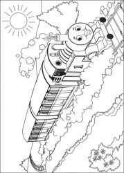 plansa de colorat thomas the train #38