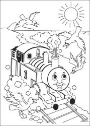 plansa de colorat thomas the train #41