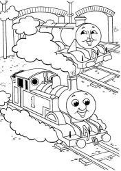 plansa de colorat thomas the train #45