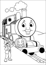 plansa de colorat thomas the train #46