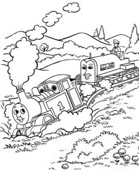 plansa de colorat thomas the train #53