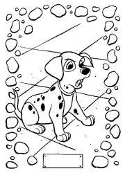 plansa de colorat 101 dalmatieni de colorat p07