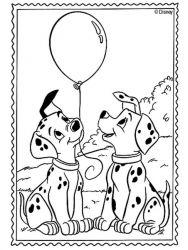 plansa de colorat 101 dalmatieni de colorat p11