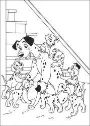 plansa de colorat 101 dalmatieni de colorat p24