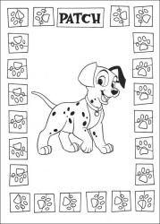 plansa de colorat 101 dalmatieni de colorat p29