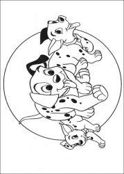 plansa de colorat 101 dalmatieni de colorat p33