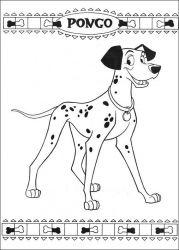 plansa de colorat 101 dalmatieni de colorat p50