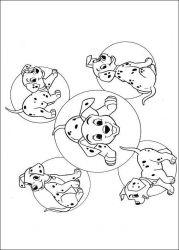plansa de colorat 101 dalmatieni de colorat p56