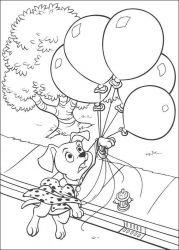 plansa de colorat 101 dalmatieni de colorat p74