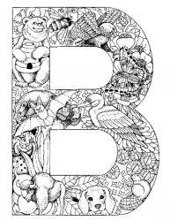 plansa de colorat alfabetul cu animale de colorat p02