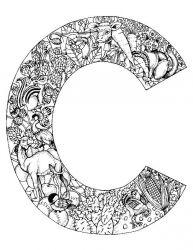 plansa de colorat alfabetul cu animale de colorat p03