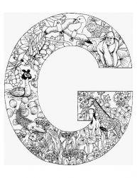 plansa de colorat alfabetul cu animale de colorat p07