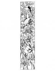 plansa de colorat alfabetul cu animale de colorat p09