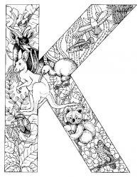 plansa de colorat alfabetul cu animale de colorat p11