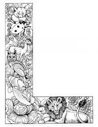 plansa de colorat alfabetul cu animale de colorat p12