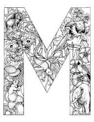 plansa de colorat alfabetul cu animale de colorat p13