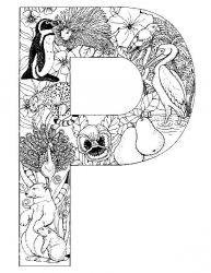 plansa de colorat alfabetul cu animale de colorat p16