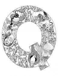 plansa de colorat alfabetul cu animale de colorat p17