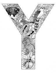 plansa de colorat alfabetul cu animale de colorat p25