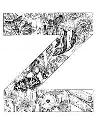 plansa de colorat alfabetul cu animale de colorat p26