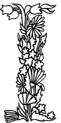 plansa de colorat alfabetul cu flori de colorat p09