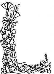 plansa de colorat alfabetul cu flori de colorat p12