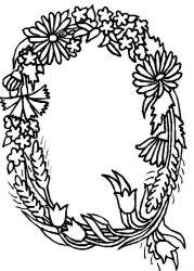 plansa de colorat alfabetul cu flori de colorat p17