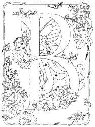 plansa de colorat alfabetul cu zane de colorat p02