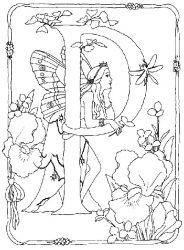 plansa de colorat alfabetul cu zane de colorat p15