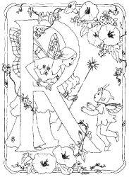 plansa de colorat alfabetul cu zane de colorat p17