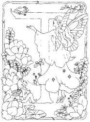 plansa de colorat alfabetul cu zane de colorat p19