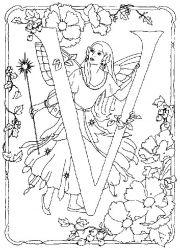 plansa de colorat alfabetul cu zane de colorat p21