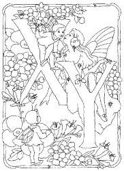 plansa de colorat alfabetul cu zane de colorat p23