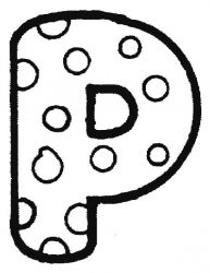plansa de colorat alfabetul de colorat p16