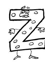 plansa de colorat alfabetul haios de colorat p26