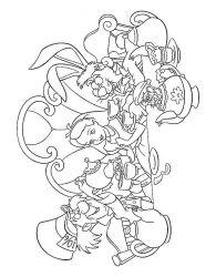 plansa de colorat alice in tara minunilor de colorat p05
