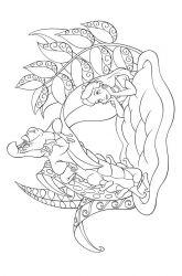 plansa de colorat alice in tara minunilor de colorat p23