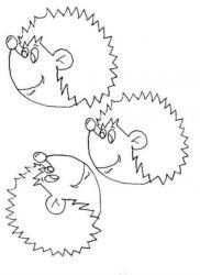 plansa de colorat animale arici de colorat p08
