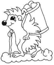 plansa de colorat animale arici de colorat p17