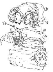 plansa de colorat animale arici de colorat p26