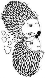 plansa de colorat animale arici de colorat p27
