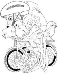 plansa de colorat animale arici de colorat p30