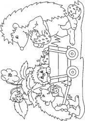 plansa de colorat animale arici de colorat p40