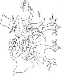 plansa de colorat animale broscute de colorat p30