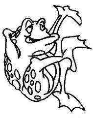 plansa de colorat animale broscute de colorat p64