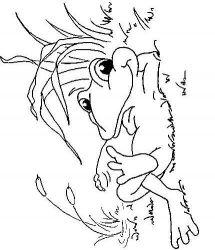 plansa de colorat animale broscute de colorat p75