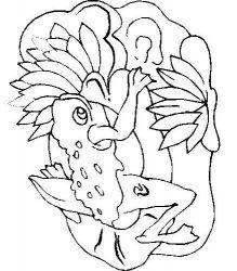 plansa de colorat animale broscute de colorat p86
