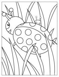 plansa de colorat animale buburuze de colorat p10