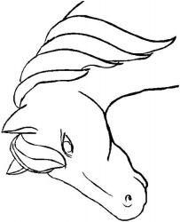 plansa de colorat animale cai de colorat p02