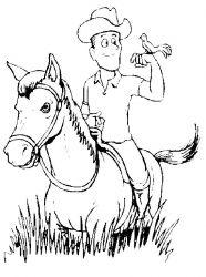 plansa de colorat animale cai de colorat p15